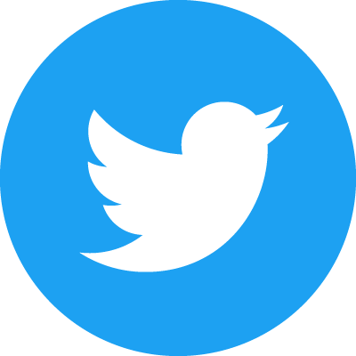 Twitter Social Icon Circle Color